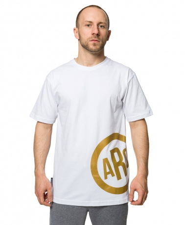 TEE ARG CIRCLE WHITE GOLD