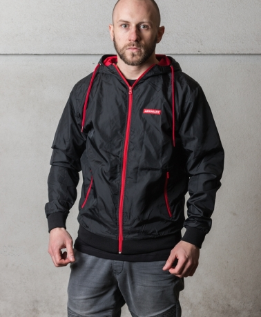 WINDBREAKER JACKET FRAME BLACK RED