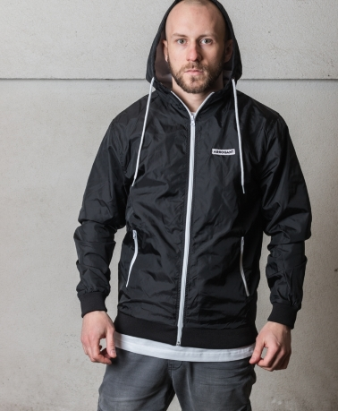 WINDBREAKER JACKET FRAME BLACK WHITE