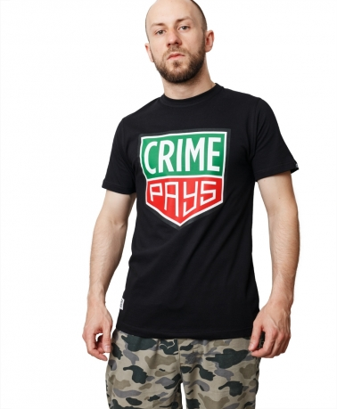 TEE CRIME PAYS BLACK
