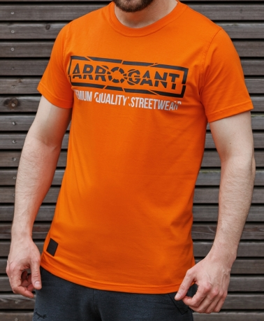TEE ARROGANT CRACKED ORANGE