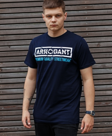 TEE ARROGANT CRACKED NAVY WHITE