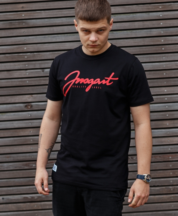 TEE ARROGANT SCRIPT BLACK RED