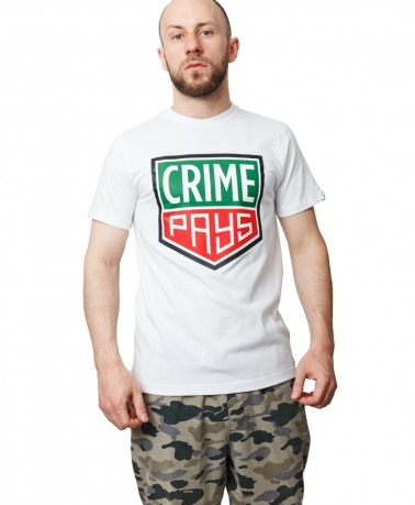 TEE CRIME PAYS WHITE