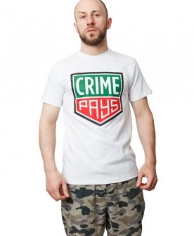 TEE CRIME PAYS WHITE