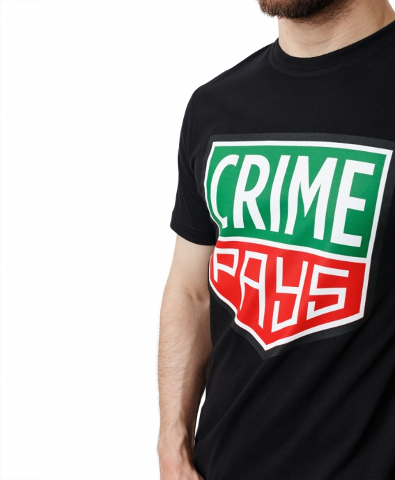 TEE CRIME PAYS BLACK
