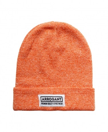 BEANIE CLASSIC ORANGE WHITE