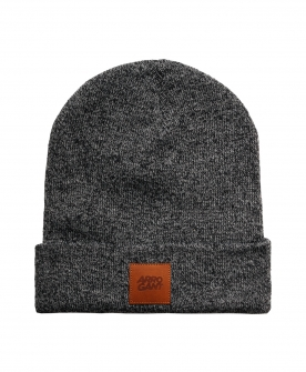 BEANIE GRAPHITE LEATHER CAMEL