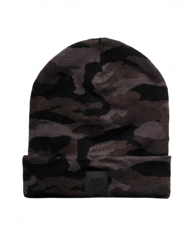 BEANIE CAMO BLACK LEATHER BLACK