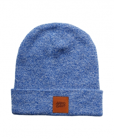 BEANIE BLUE LEATHER CAMEL