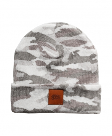 BEANIE CAMO WHITE LEATHER CAMEL