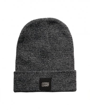 BEANIE GRAPHITE LEATHER BLACK