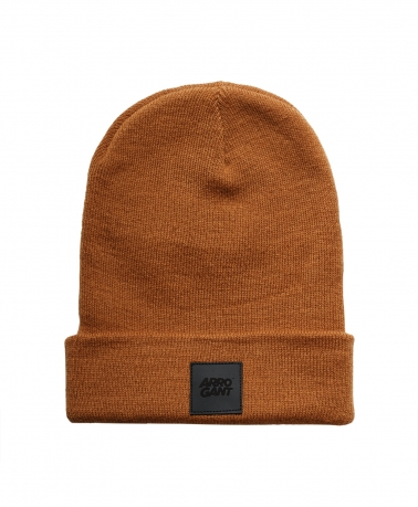 BEANIE CARMEL LEATHER BLACK