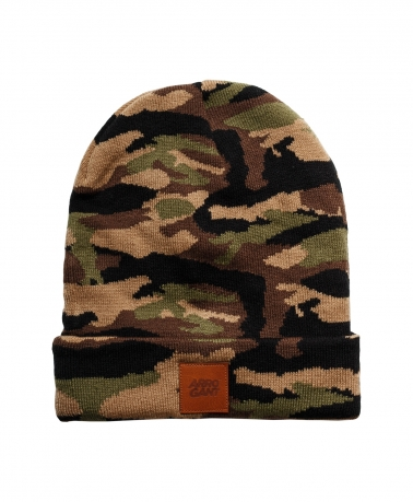 BEANIE CAMO BROWN LEATHER CAMEL