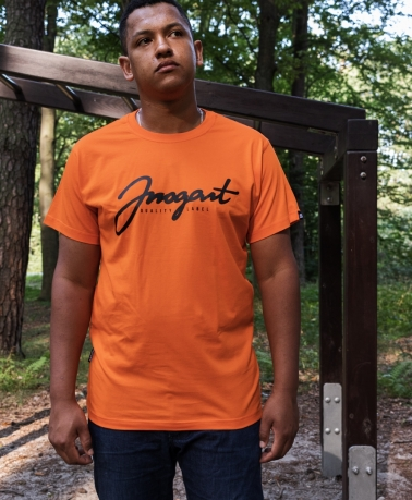 TEE ARROGANT SCRIPT ORANGE BLACK