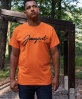 TEE SCRIPT ORANGE BLACK