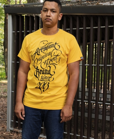 TEE WLK CALLIGRAPHY YELLOW