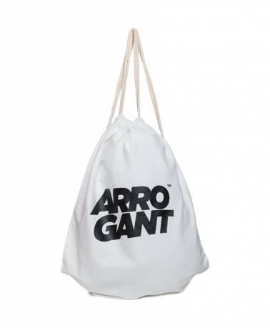 ARROGANT COTTON GYMSACK WHITE BLACK