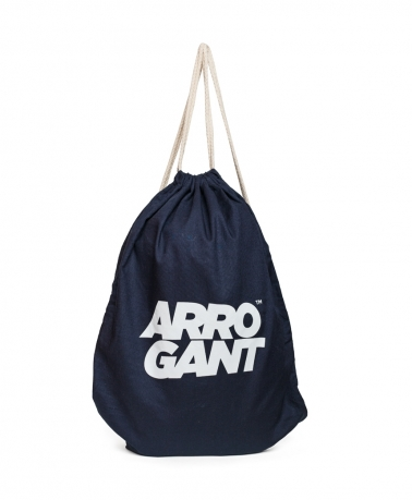 ARROGANT COTTON GYMSACK NAVY WHITE