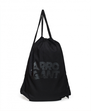 ARROGANT COTTON GYMSACK ALL BLACK