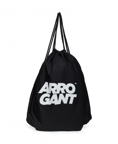 ARROGANT COTTON GYMSACK BLACK WHITE