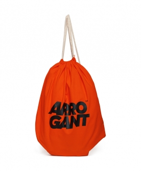 ARROGANT COTTON GYMSACK ORANGE BLACK