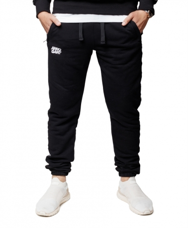 Sweatpants Loop Arrogant Tape Black White